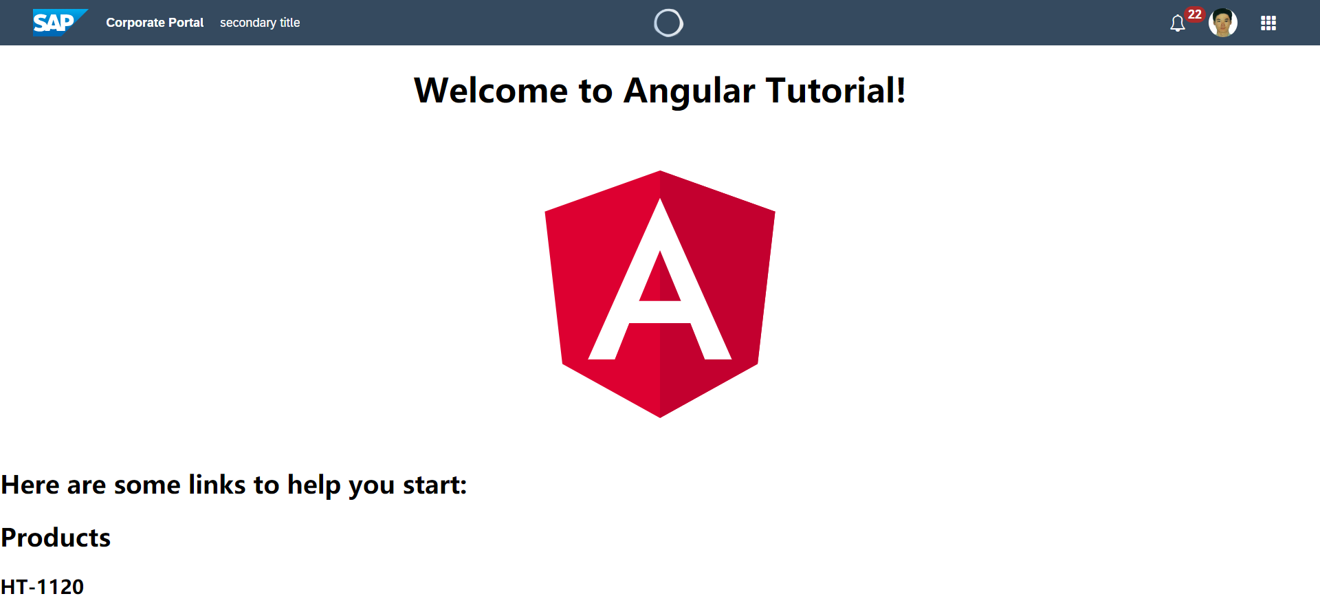 Angular UI5 webcomponents ShellBar