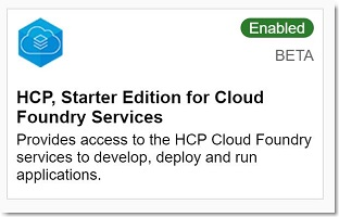 HCP Starter edition for CF