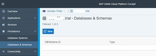 Databases and Schemas