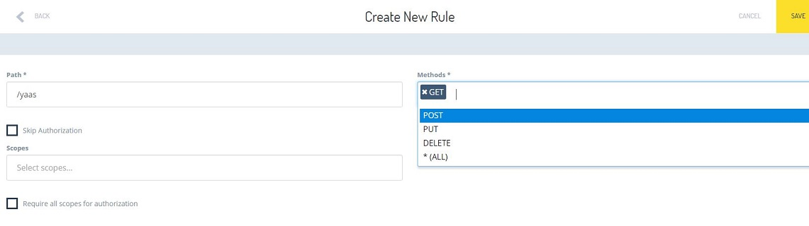 Create a new Authorization Rule