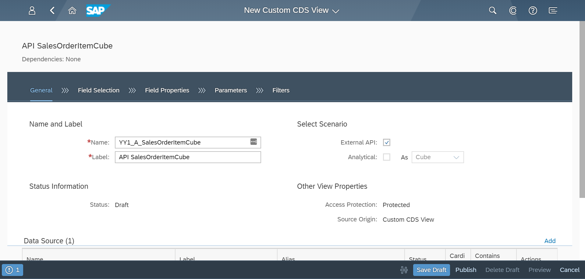 Image: S/4HANA Cloud Custom CDS Views 1